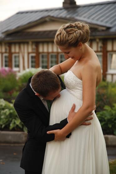 Если беременная идет на свадьбу