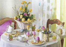 Як прикрасити стіл на Великдень1