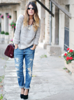 З чим носити жіночі джинси бойфренди в 2015