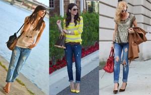 З чим носити жіночі джинси бойфренди в 20152