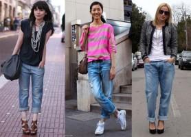 З чим носити жіночі джинси бойфренди в 20154