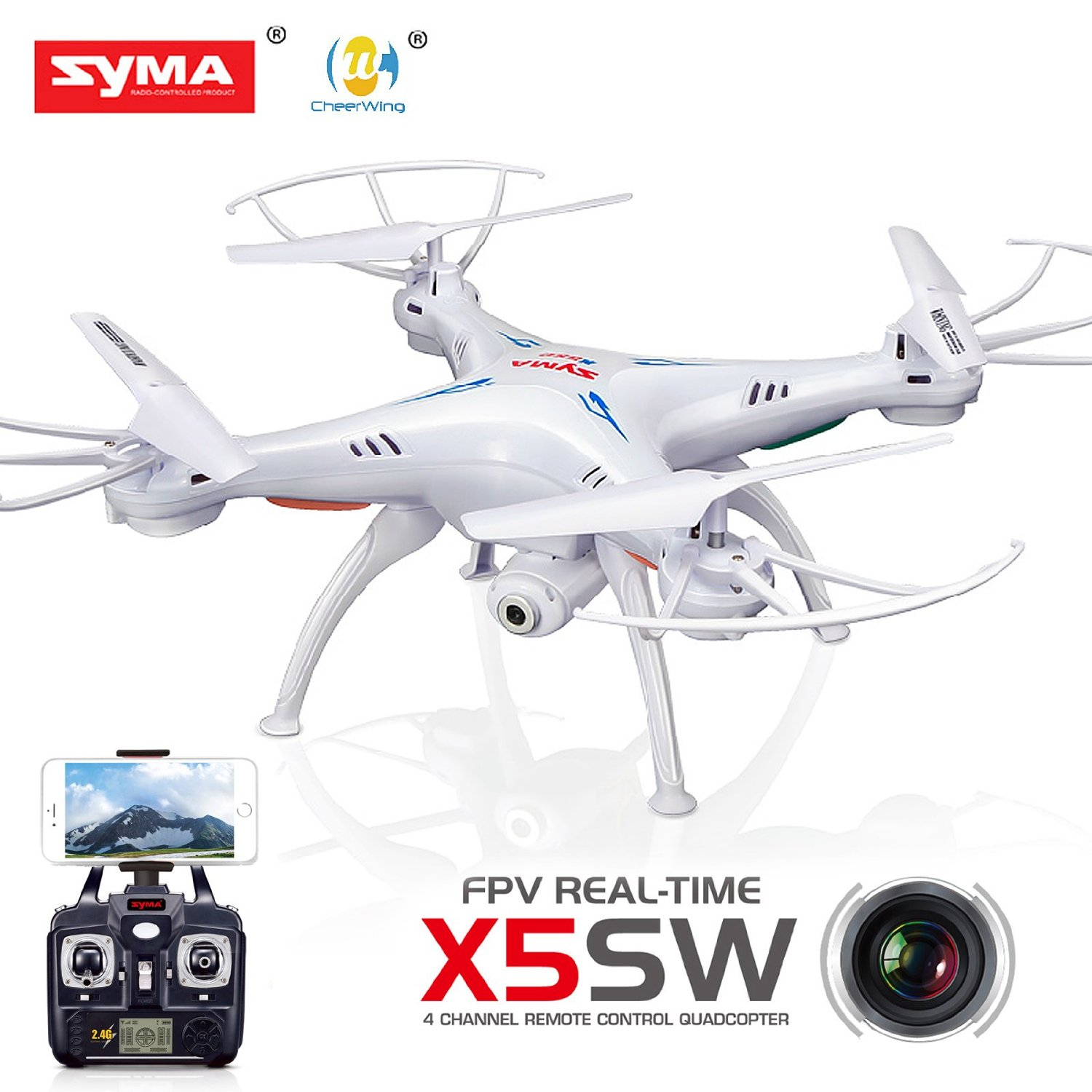 Syma-X5SW-FPV-Explorers2-2.4Ghz-4CH-6-Axis-Gyro-RC-Headless-Quadcopter-Drone-HD-Wifi-Camera